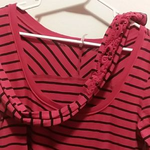 Free People Striped Shirt with Sleeve Details!